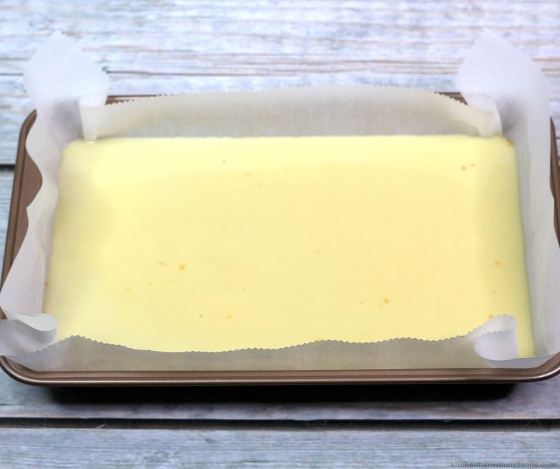 sweetened condensed milk in a pan