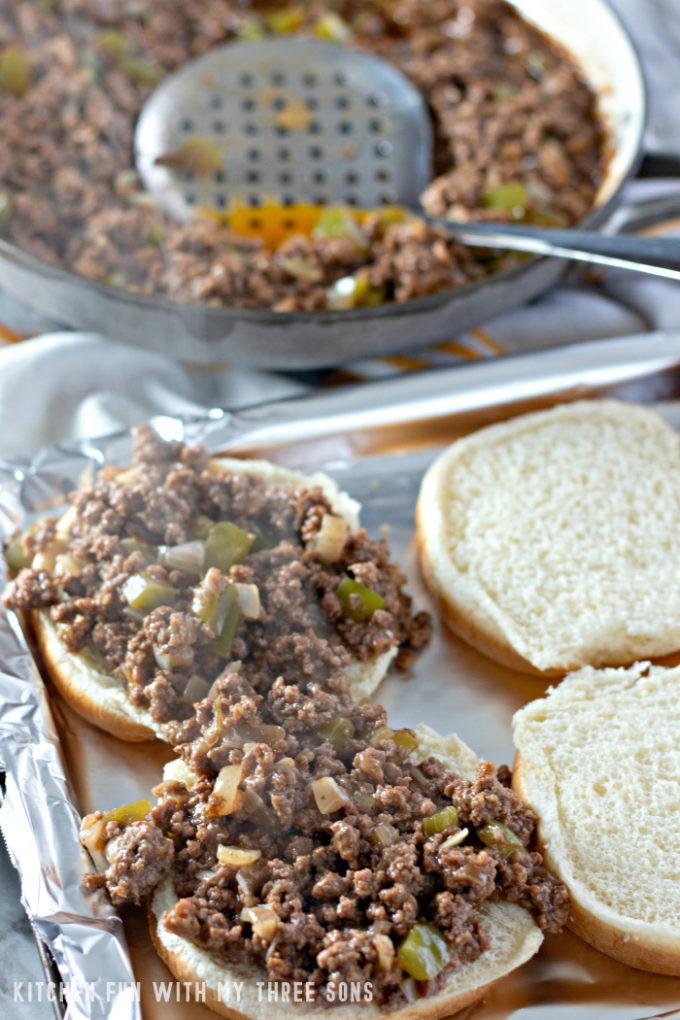 Making Philly Cheesesteak Sloppy Joes