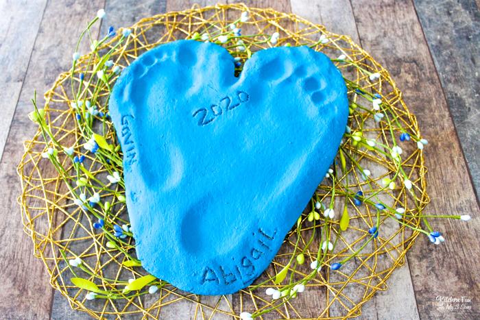 Salt Dough Handprints Keepsake