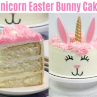 Unicorn Easter Bunny Cake