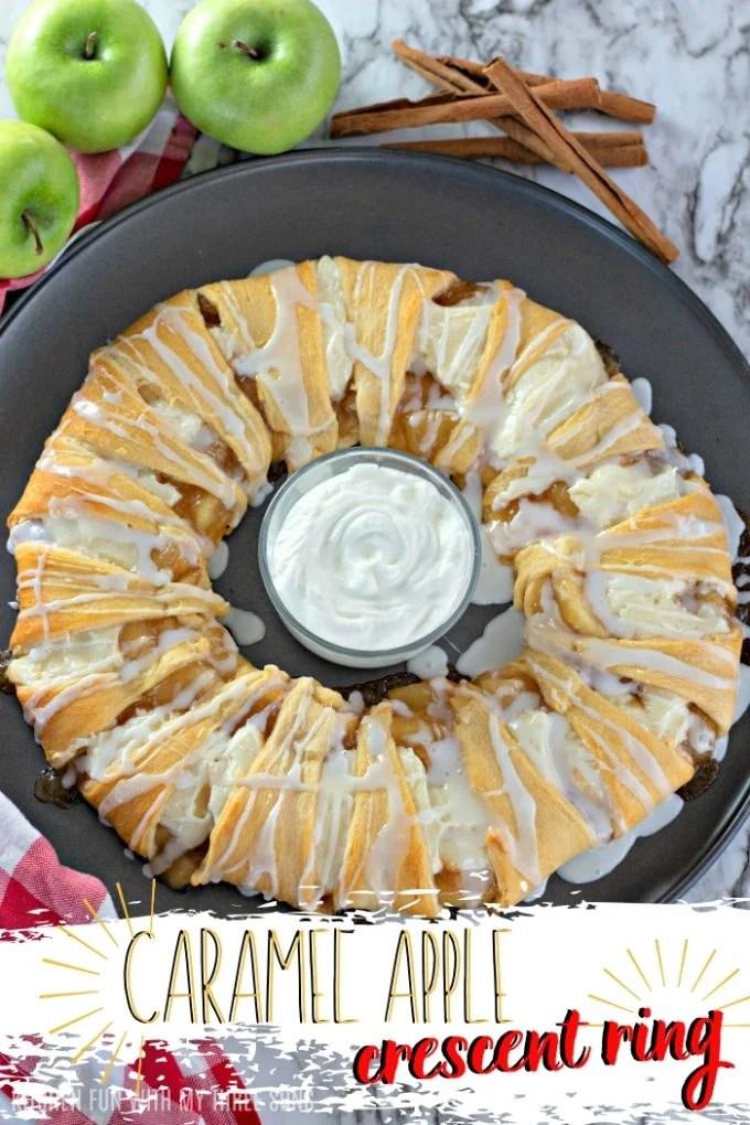 Caramel Apple Cream Cheese Crescent Ring on Pinterest
