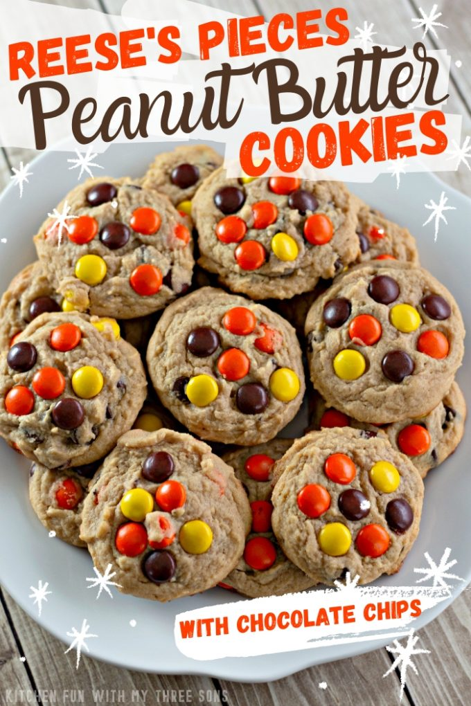 Reese's Pieces Peanut Butter Cookies on Pinterest