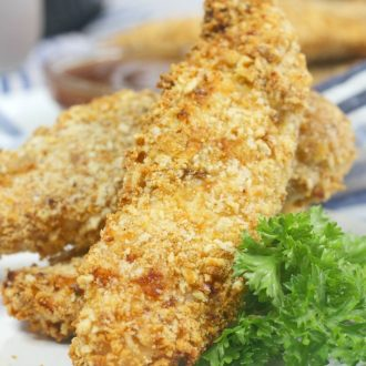 Seasoned Pretzel Air Fryer Chicken Tenders