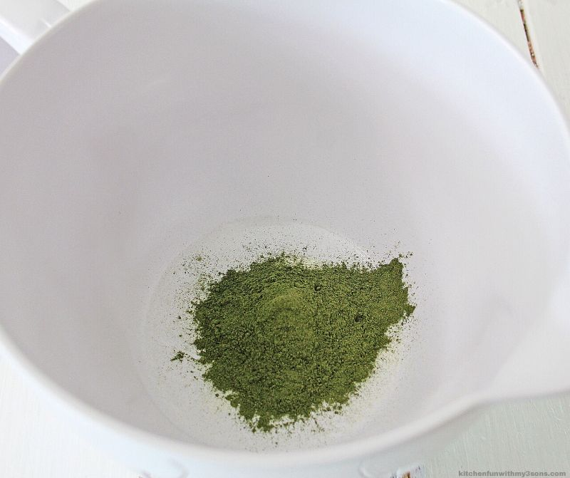 matcha in a bowl