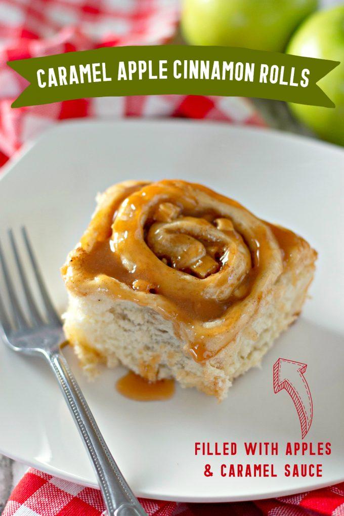 Caramel Apple Cinnamon Rolls on Pinterest
