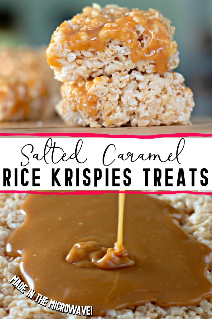 Salted Caramel Rice Krispies Treats on Pinterest