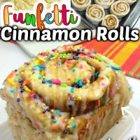 Funfetti Cake Mix Cinnamon Rolls
