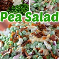 Loaded Pea Salad with Bacon