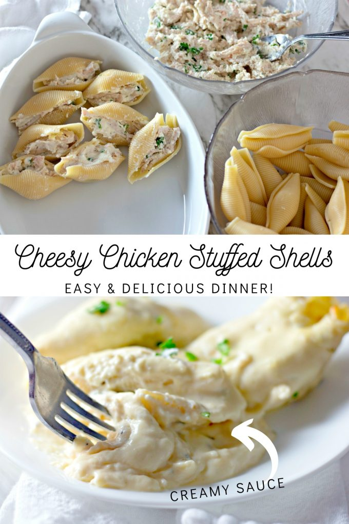 Cheesy Chicken Stuffed Shells on Pinterest