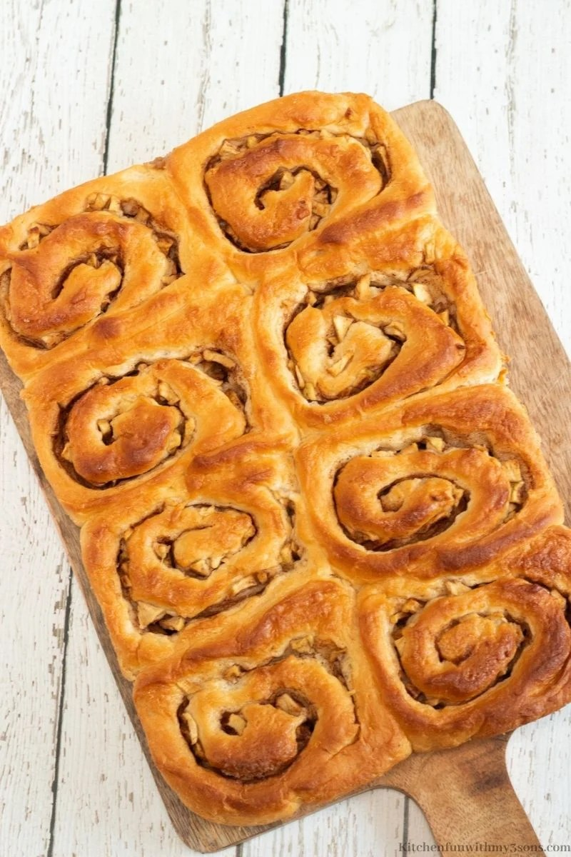 apple cinnamon buns without frosting