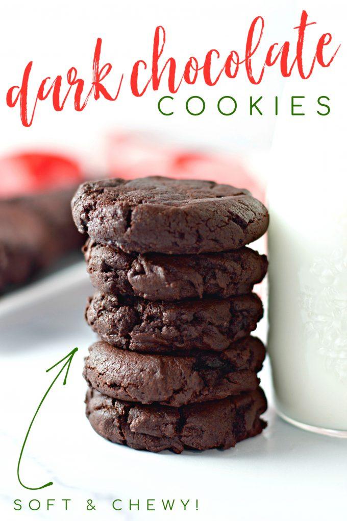 Dark Chocolate Cookies on Pinterest