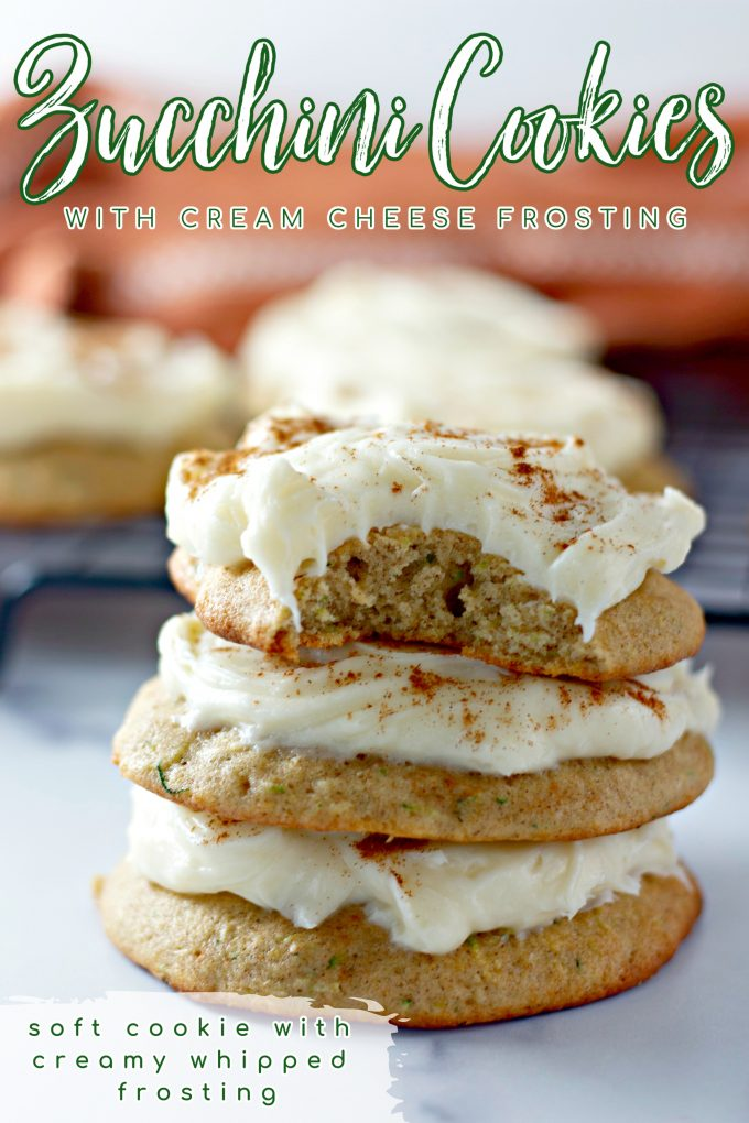 Zucchini Cookies with Cream Cheese Frosting on Pinterest