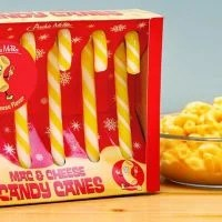 Mac and Cheese Candy Canes