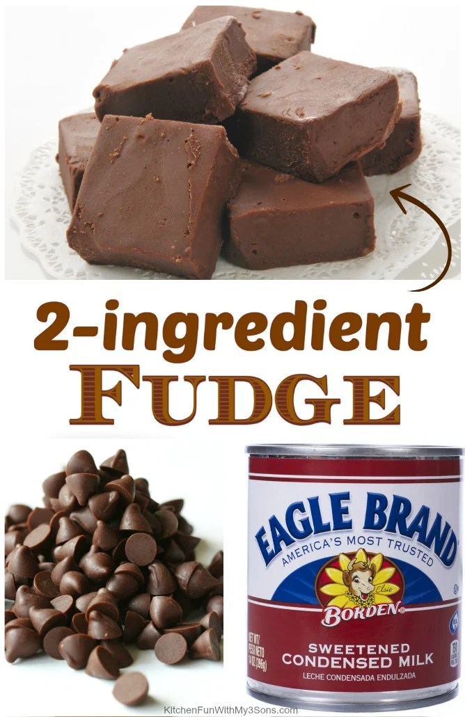 This 2 Ingredient Fudge is by far the easiest way to make fudge ever and it is also absolutely delicious.