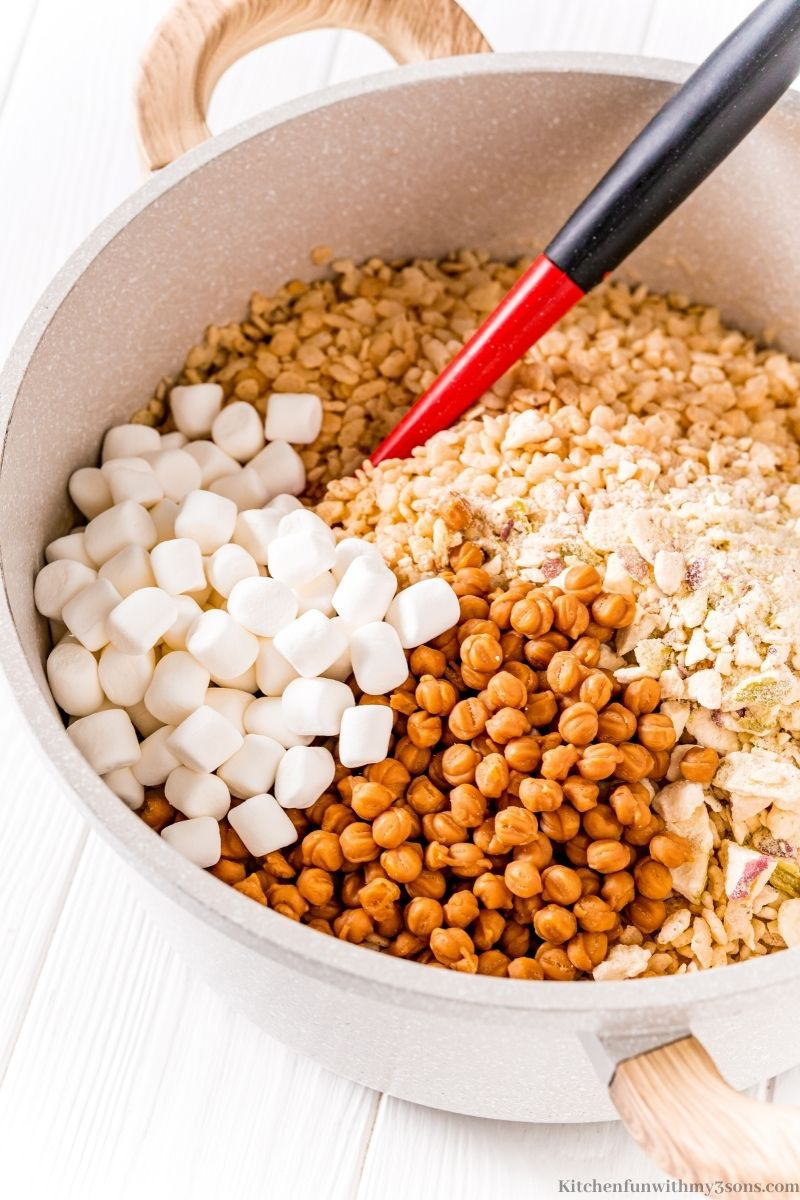 All of the ingredients prepared to mix in a bowl.