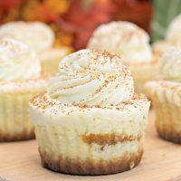Mini Pumpkin Swirl Cheesecake