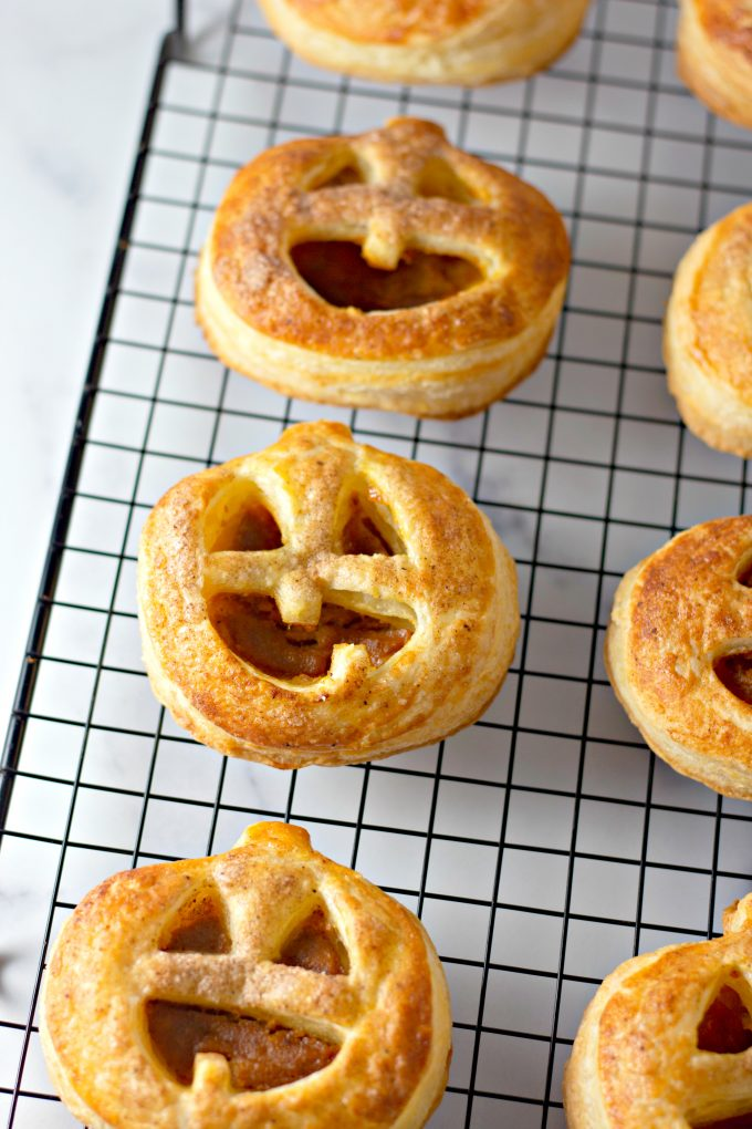 Easy Pumpkin Hand Pies on a wire cooling rack