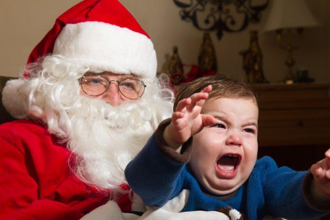 Child Crying Santa