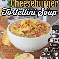 Instant Pot Cheeseburger Tortellini Soup