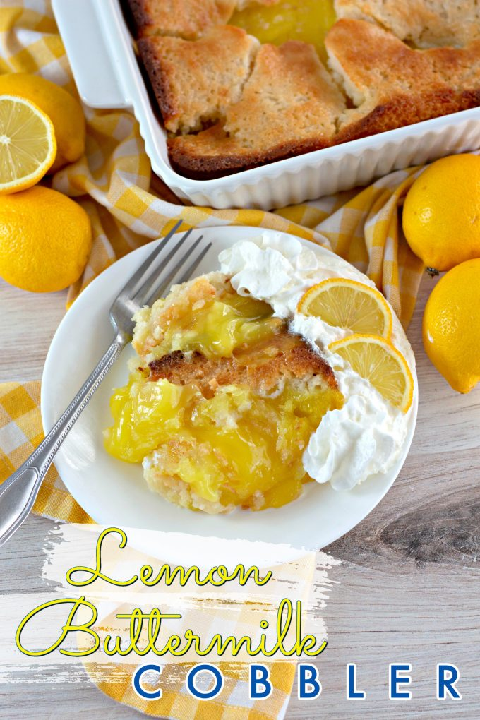 Magic Lemon Buttermilk Cobbler on Pinterest