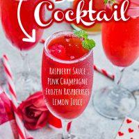 Raspberry Bellini Cocktail