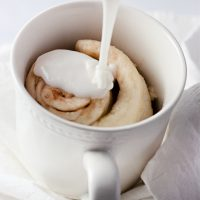 Microwave Cinnamon Roll