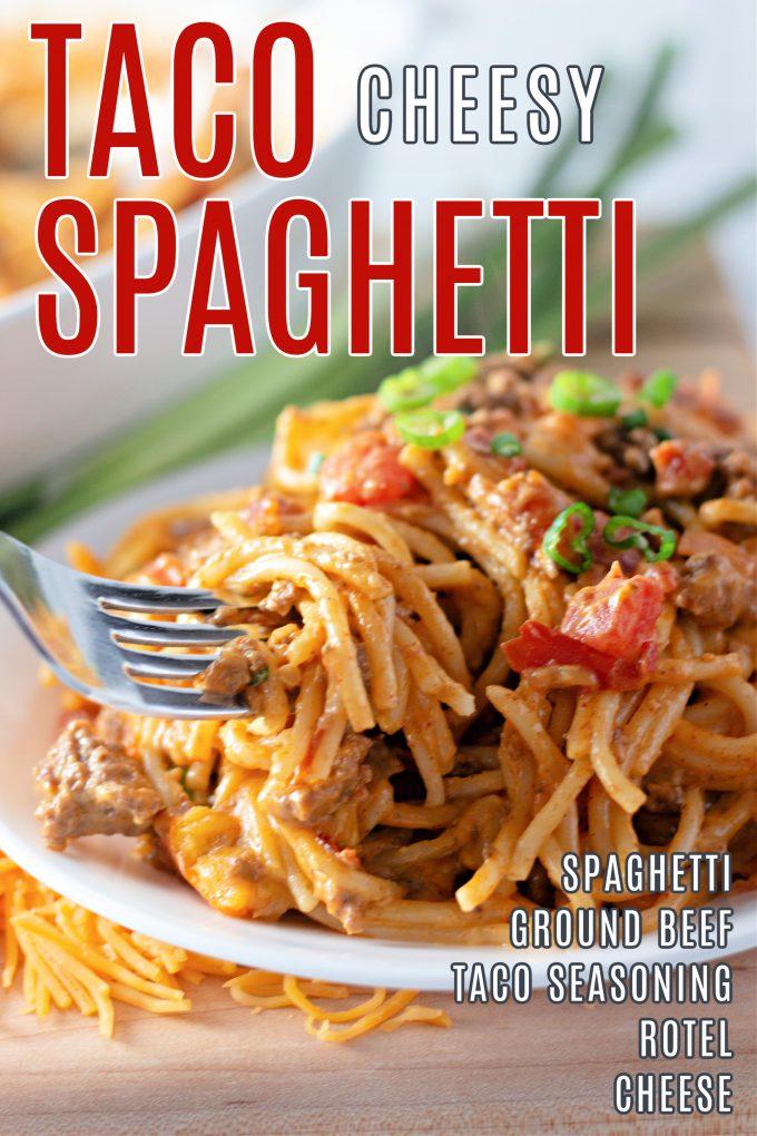 Cheesy Taco Spaghetti on Pinterest