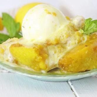 Crock Pot Lemon Cobbler