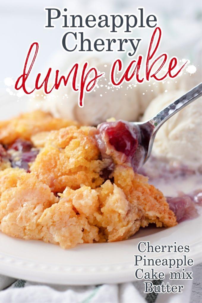 Dump Cake à l'ananas et aux cerises sur Pinterest.