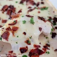 Cheesy Smothered Chicken with Bacon