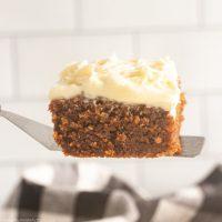 Carrot Sheet Cake (Cream Cream Frosting)