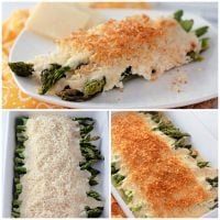 Cheesy Roasted Asparagus Casserole