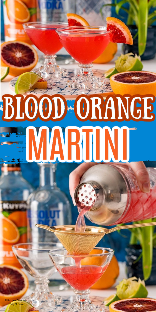 Easy and Delicious Blood Orange Martini