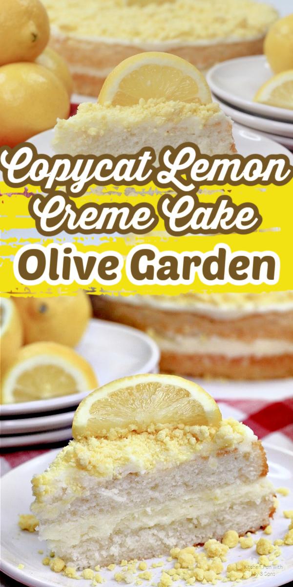 How to Make a Copycat version of Olive Garden's Famous Lemon Creme Cake