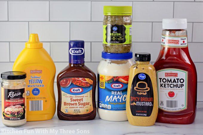 ingredients to make Fry Sauce 4 Ways.