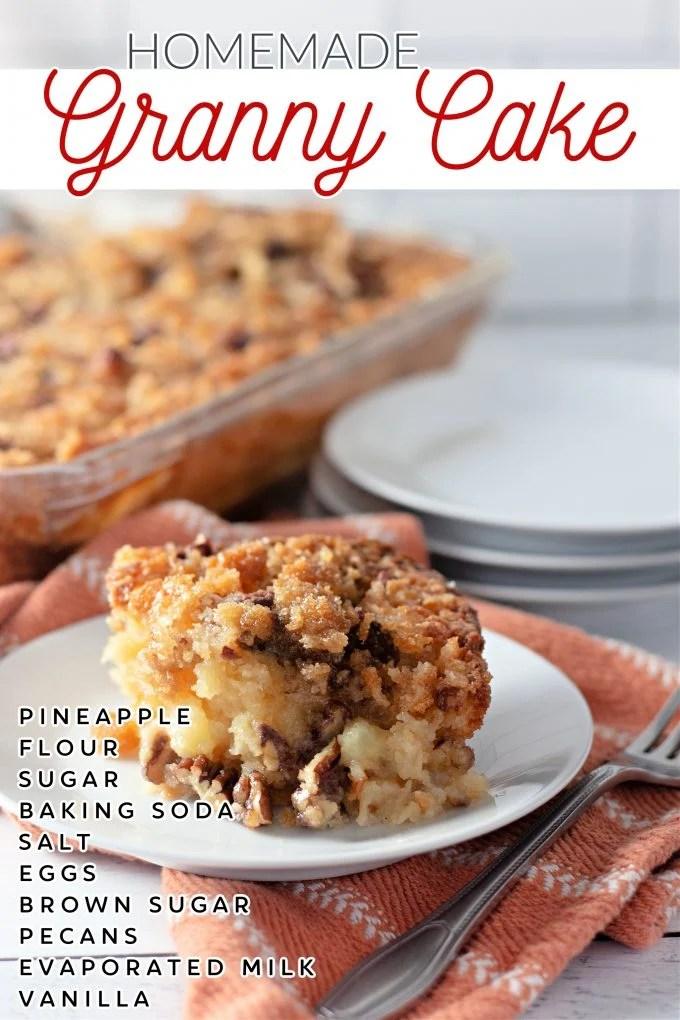 Granny Cake Recipe on Pinterest.