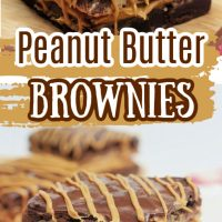 Two Peanut Butter Brownies on a plate