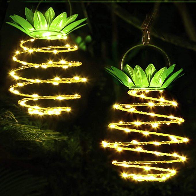 Pineapple Solar Lights