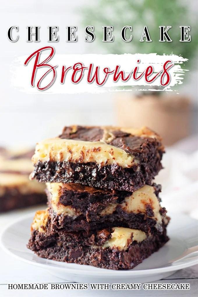 Homemade Cheesecake Brownies on Pinterest.