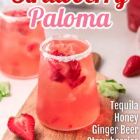 Strawberry Paloma Cocktail