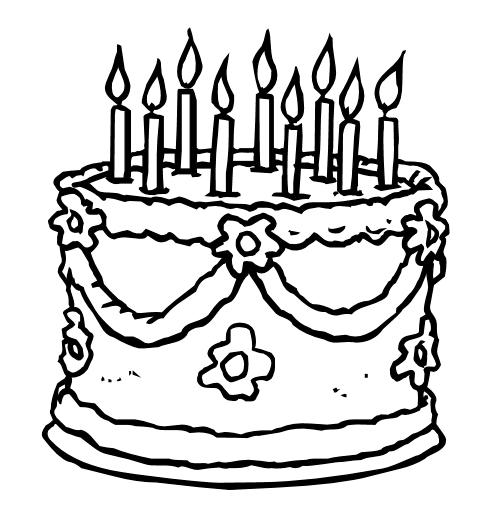 Cake Decorating Clip Art Black