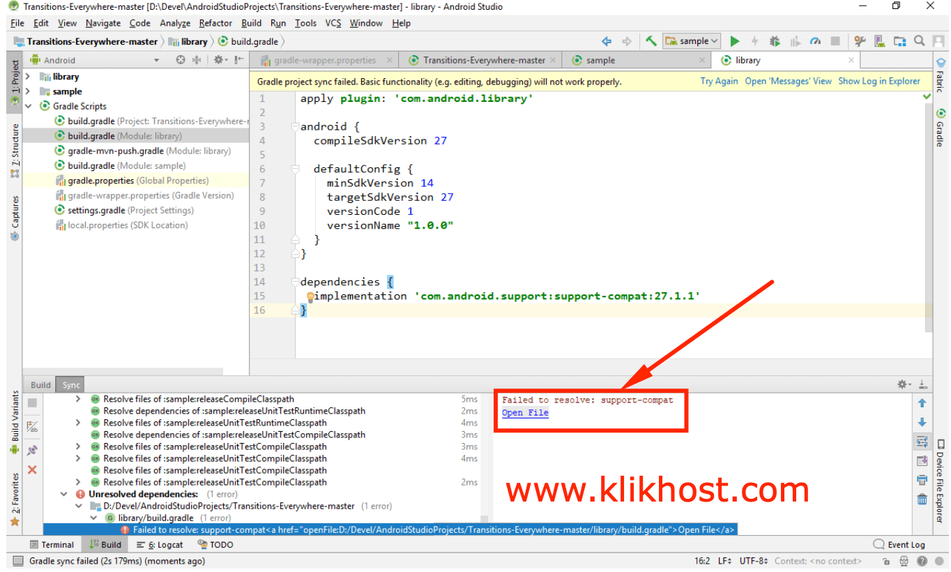 "Cara Mengatasi ""Failed to resolve: support-compat"" di Android Studio"