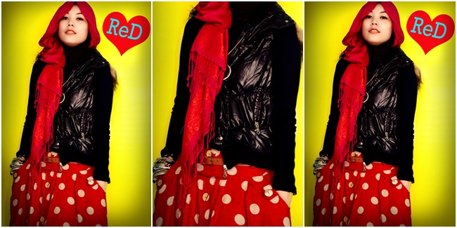 Fashion A Hijab Seru Dalam Warna Merah Menyala Rock In Red Vemale Com