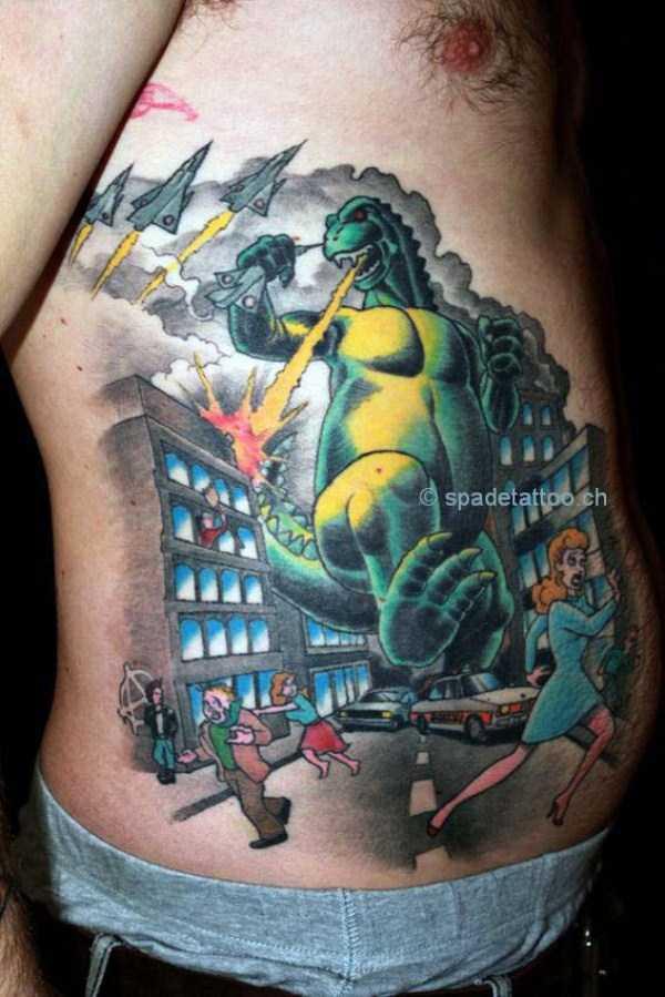 30 Seriously Good Godzilla Tattoos 30 Photos Klyker Com