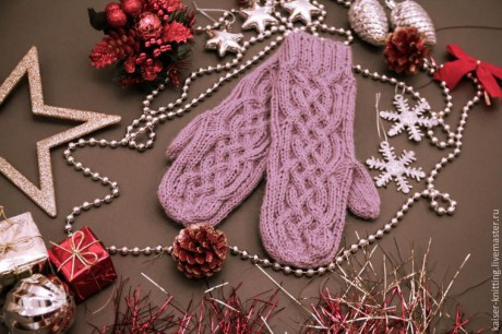 How to tie beautiful mittens with knitting needles, master class!