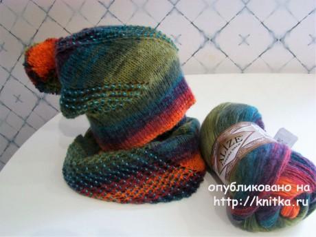 capac tricotat cu margele