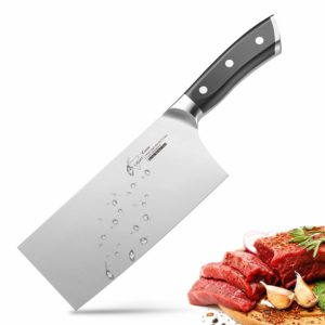 7 Cleaver, Chinese Butcher Knife German High Carbon Stainless Steel