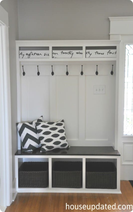 Built In Mudroom Lockers And Bench