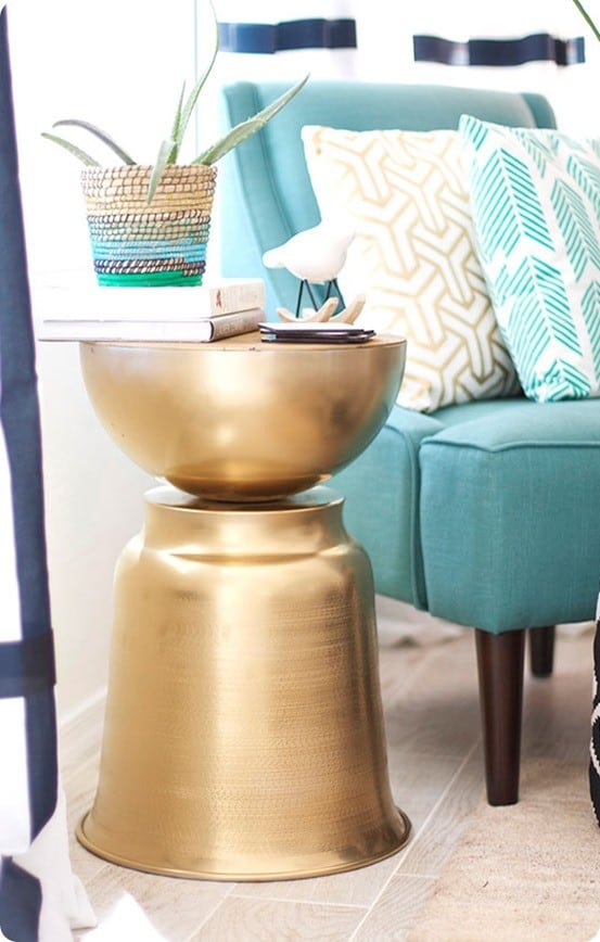 Small White Side Table