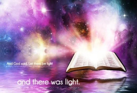 Bible Verse Let There Be Light
